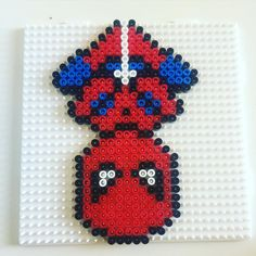 Spiderman hama beads by _kirsty_jeany_ Hama Beads Design, Hama Beads Patterns, Pearler Beads, Fuse Beads, Hama Beads Coasters, Spiderman, Pearl Beads Pattern, Roblox Animation, Beaded Spiders