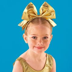 Gold Bow Headband dazzle-dancewear.co.uk