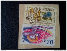 RARE 1973 Czechoslovakia 1.80 Ksc/0.20 SPACE/FLOWER-INLYBUS/ART RECOMMENDET LETTRE ON PAPER COVER USED SEAL - Czechoslovakia