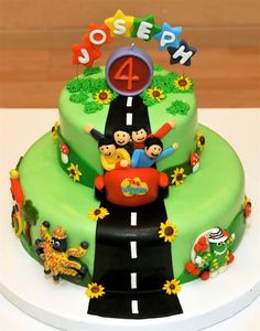 Sharon Joiner uploaded this image to 'Supermum Cakes/Wiggles Cake'. See the album on Photobucket. Wiggles Birthday, 3rd Birthday Cakes, Wiggles Party, Birthday Ideas, Fondant Cakes, Cupcake Cakes, Cupcake Ideas, Cupcakes, Wiggles Cake