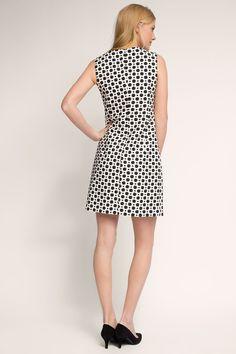 Esprit / Modieuze jacquard jurk met puntjes