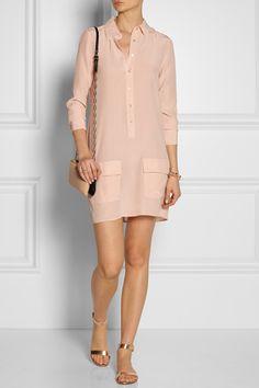 Equipment|Lucida washed-silk shirt dress|NET-A-PORTER.COM