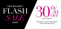 Avon Flash Sale - 30% off select Avon products - ends midnight: 9/19/2014! Click here: https://www.avon.com/products/productline/605/?s=AVAT091914K&c=EmailREP&otc=Email_P1_FlashSale&repid=7468969