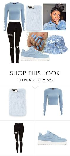 """""""Baby Blue❗❗❗""""❤ liked on Polyvore featuring Skinnydip, Topshop, NIKE and tuktuk"""