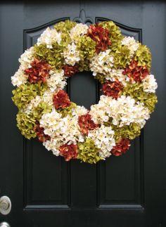 Fall Hydrangea Wreath....