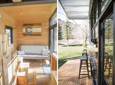 The Atlas   Tiny House Swoon   A 196 square feet tiny house on wheels with folding outdoor seating in Longmont, Colorado. Designed by F9 Productions.