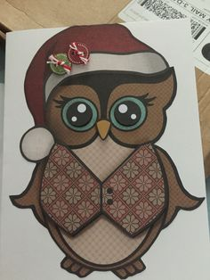 Hoot Christmas card