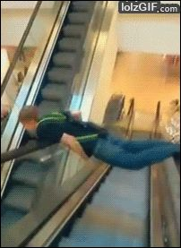 ESCALATOR RIDE HEAD FAIL