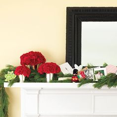 Personal & Colorful #Christmas Mantel | Click through to get this look!
