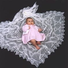 Shetland Collection - Lace knit baby Shawls - Handknitted Lace Knitting Patterns, Shawl Patterns, Lace Patterns, Knitted Baby Blankets, Knitted Shawls, Lace Shawls, Vintage Knitting, Baby Knitting, Crochet Baby