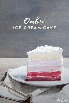 Ombre Ice-Cream Cake via @PureWow