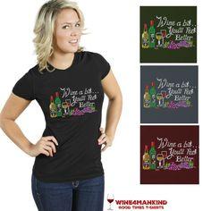 TSR04 Wine a bit Funny Slogan Rhinestone Shirt, Cocktail rhinestone shirts,10%OFF: pin10  #wine #vino #happyhour #cocktails #tshirts #fashion #bling #shirts #rhinestoneshirts http://www.wine4mankind.net