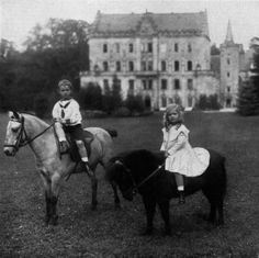 Johann Leopold, Hereditary Prince of Saxe-Coburg and Gotha and his sister Princess Sibylla of Sweden, Duchess of Västerbotten
