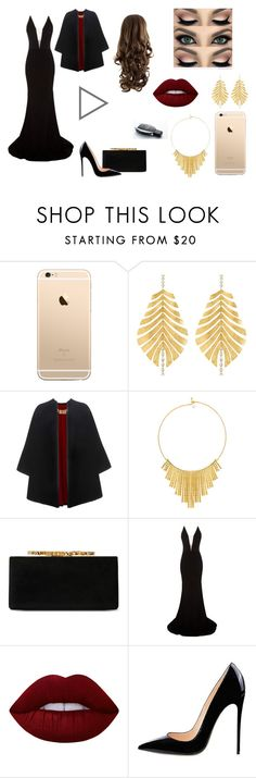 """Look Party #Fanfic"" by amandavitoriaavila on Polyvore featuring moda, Hueb, Burberry, BERRICLE, Jimmy Choo, Alex Perry e Lime Crime"