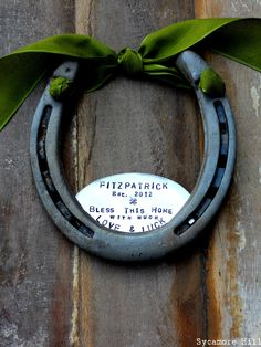 Shamrock Love and Luck Horseshoe Handmade $68.00 (great wedding/house-warming gift)