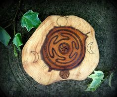 Yew Wood Hecate Altar Paten Witchcraft Magic Pagan by WytchenWood, $16.38