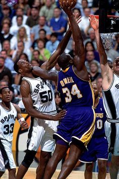 Shaquille O'Neal Los Angeles Lakers David Robinson San Antonio Spurs Antonio Daniels