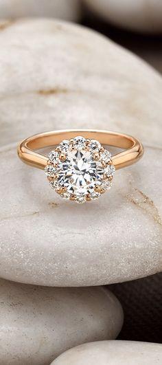 Rose Gold Lotus Flower Diamond Ring = my dream engagement ring! Bling Bling, The Bling Ring, Rose Gold Diamond Ring, Halo Diamond, Ring Set, Diamond Are A Girls Best Friend, Beautiful Rings, Jewelry Accessories, Wedding Rings