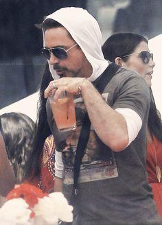 Robert Downey Jr. + hoodie