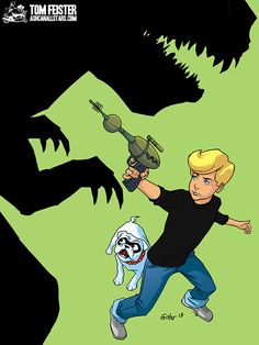 "Jonny Quest by Tom Feister for ""Hanna Barbera"" Week at AshcanAllstars.com"
