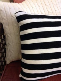 DIY Pillows from Old Sweaters