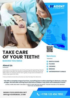 Download the Free Dental Service PSD Flyer Template! - Free Business Flyer, Free Flyer Templates, Free Health Flyer, Free Medical Flyer - #FreeBusinessFlyer, #FreeFlyerTemplates, #FreeHealthFlyer, #FreeMedicalFlyer - #Clinic, #Dental, #Doctor, #Health, #Medical, #Tooth