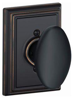 Schlage F170-SIE-ADD Siena Single Dummy Door Knob with Decorative Addison Trim