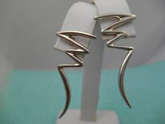 Wonderul and Unique Authentic Tiffany & Co. Paloma Picasso ZigZag Pierced Earrings - Mint Condition by Tiffanytreasureshop on Etsy
