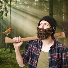 This just cracks me up! A full lumberjack-esque beard which is detachable and adjustable! Comes with a fitted turnup style beanie. Browse our Awesome stuff now!