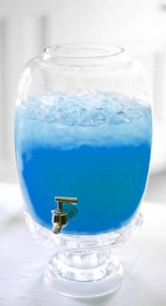 Blue Mana Punch: I've given up on finding a natural way to reproduce the mana potion color, so I'm using a recipe something like this one: Blue Hawaiian punch, lemonade, & sprite