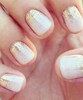 Gold and white nails cute nails beautiful glitter gold pretty nails dreamy gold nails white nails How To Do Nails, Fun Nails, Prom Nails, Homecoming Nails, Xmas Nails, Weddig Nails, Graduation Nails, S And S Nails, Sexy Nails