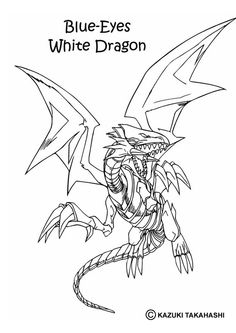White Dragon 1 coloring page - Coloring - Manga coloring pages - Yu-Gi-Oh coloring pages