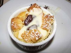 White Chocolate Bread Pudding. Omg I had this on the cruise Im so going to make this, !,