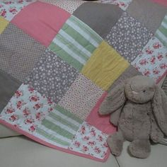 Baby Quilt for sale - $140 #buttonandlou #babyquilt #homemade #babygift…