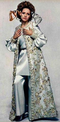 1968 Nina Ricci  my mom had a long beaded vest like this   wish I still had it