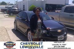 #HappyAnniversary to Clarelle Charles on your 2014 #Chevrolet #Cruze from Scott Spiegel at Huffines Chevrolet Lewisville!