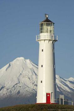 Cape Egmont Lighthouse & Mount Taranaki, North Island, New Zealand
