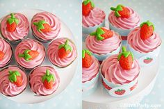 DIY Strawberry Themed Desserts Table   Recipes by Bird's Party