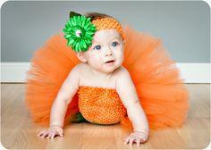 A Pumpkin Tutu Costume