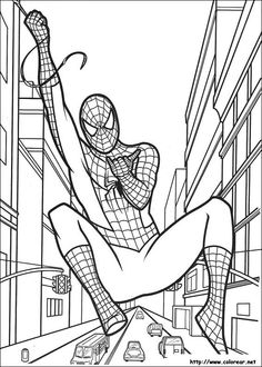 Spiderman colouring pages. Find here free printable Spiderman coloring pages for kids. Donwload and color marvel, Green Goblin, Peter Parker and Spiderman drawing pictures Superhero Coloring Pages, Spiderman Coloring, Cartoon Coloring Pages, Coloring Book Pages, Coloring Pages For Kids, Coloring Sheets, Spiderman Cards, Spiderman Drawing, Black Spiderman