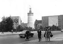 Berliner Fernsehturm – Baufortschritt am 10. August 1966 – Wikipedia