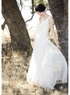 Chiffon Empire Maternity Wedding Dresses with Strapless neckline Shape Skirt Floor Length