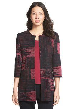 Ming Wang Long CollarlessJacquard Knit Jacket available at #Nordstrom