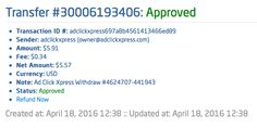 AdClickXpress is the top choice for passive income seekers. Making my daily earnings is fun, and makes it a very profitable! I am getting paid daily at ACX and here is proof of my latest withdrawal. This is not a scam and I love making money online with Ad Click Xpress.https://twitter.com/RuzaRuza037/status/722701115922518017