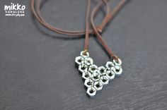 heart shaped hex nut necklace