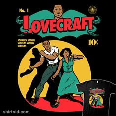 Lovecraft Comic | Shirtoid #atticusfreeman #comic #comics #hplovecraft #harebrained #horror #leti #letitialewis #lovecraftcountry #tvshow