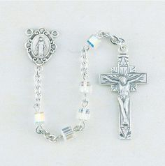 Swarovski Cube Shape Rosaries Available in 6 Colors