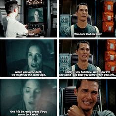 Murphy and Cooper, Interstellar (2014). I really enjoyed Matthew's acting in the intense scenes. Impressive and moving