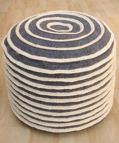 Pretty sure I could make this!   Take a look at this Charcoal Cinnamon Roll Pouf by nuLOOM on #zulily today!