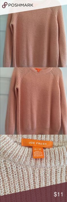 Price Cut ❌Joe Fresh Pink Knit Sweater Light pink pull over sweater from Joe Fresh. Purchased at Nordstrom rack. No holes or stains. Joe Fresh Sweaters Crew & Scoop Necks